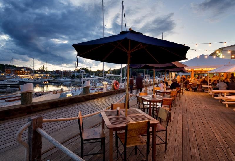 open restaurants in Camden and Rockport Maine - June 2020