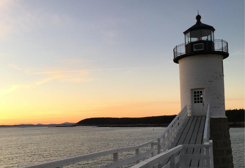 best lighthouses midcoast maine camden rockport rockland maine - isle au haut lighthouse