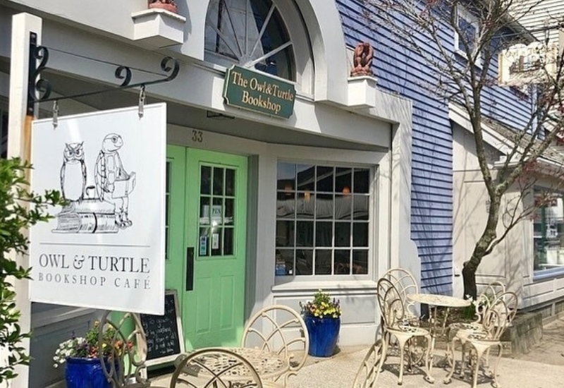 Best Shopping Camden Maine - Owl and Turtle Bookstore Storefront with sign